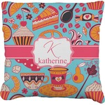 Dessert & Coffee Faux-Linen Throw Pillow (Personalized)