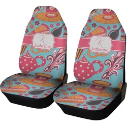 Dessert & Coffee Car Seat Covers (Set of Two) (Personalized)