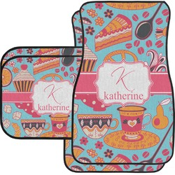 Dessert & Coffee Car Floor Mats Set - 2 Front & 2 Back (Personalized)