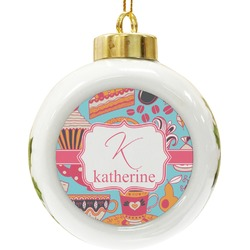 Dessert & Coffee Ceramic Ball Ornament (Personalized)