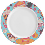 Dessert & Coffee Ceramic Dinner Plates (Set of 4) (Personalized)