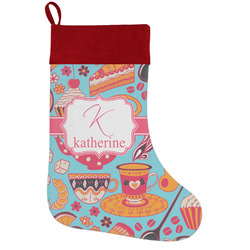 Dessert & Coffee Holiday / Christmas Stocking (Personalized)