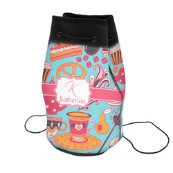 Dessert & Coffee Neoprene Drawstring Backpack (Personalized)