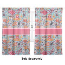 "Dessert & Coffee Curtains - 56""x80"" Panels - Lined (2 Panels Per Set) (Personalized)"