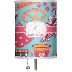 "Dessert & Coffee 7"" Drum Lamp Shade (Personalized)"