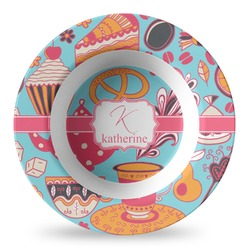 Dessert & Coffee Plastic Bowl - Microwave Safe - Composite Polymer (Personalized)