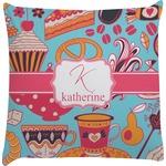 Dessert & Coffee Decorative Pillow Case (Personalized)