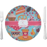 "Dessert & Coffee Glass Lunch / Dinner Plates 10"" - Single or Set (Personalized)"