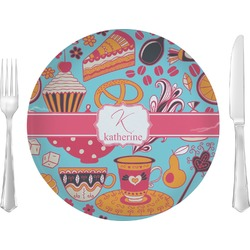 """Dessert & Coffee Glass Lunch / Dinner Plates 10"""" - Single or Set (Personalized)"""
