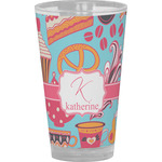 Dessert & Coffee Drinking / Pint Glass (Personalized)