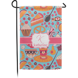 Dessert & Coffee Garden Flags With Pole - Single or Double Sided (Personalized)