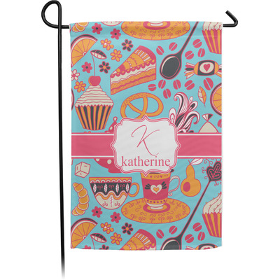 Dessert & Coffee Garden Flag - Single or Double Sided (Personalized)