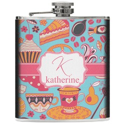 Dessert & Coffee Genuine Leather Flask (Personalized)