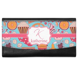 Dessert & Coffee Genuine Leather Ladies Wallet (Personalized)