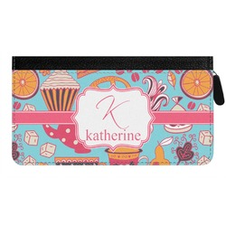 Dessert & Coffee Genuine Leather Ladies Zippered Wallet (Personalized)