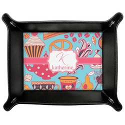 Dessert & Coffee Genuine Leather Valet Tray (Personalized)