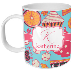 Dessert & Coffee Plastic Kids Mug (Personalized)