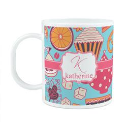 Dessert & Coffee Plastic Kids Mug (Personalized)