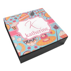 Dessert & Coffee Leatherette Keepsake Box - 3 Sizes (Personalized)