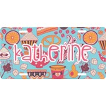 Dessert & Coffee Front License Plate (Personalized)