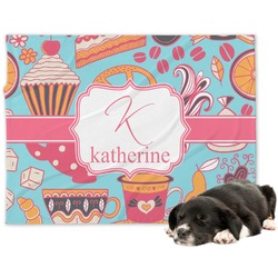 Dessert & Coffee Minky Dog Blanket (Personalized)