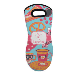 Dessert & Coffee Neoprene Oven Mitt - Single w/ Name and Initial