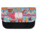 Dessert & Coffee Canvas Pencil Case w/ Name and Initial