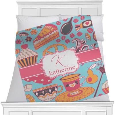 "Dessert & Coffee Fleece Blanket - Toddler / Throw - 60""x50"" - Single Sided (Personalized)"