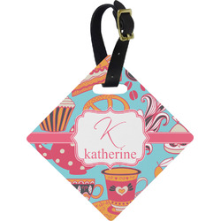 Dessert & Coffee Diamond Luggage Tag (Personalized)