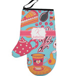 Dessert & Coffee Left Oven Mitt (Personalized)