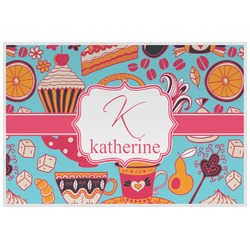 Dessert & Coffee Laminated Placemat w/ Name and Initial