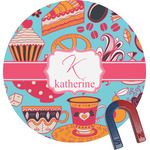 Dessert & Coffee Round Magnet (Personalized)