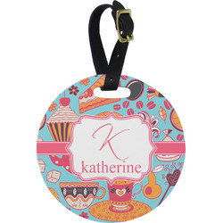 Dessert & Coffee Round Luggage Tag (Personalized)