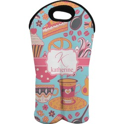 Dessert & Coffee Wine Tote Bag (2 Bottles) (Personalized)
