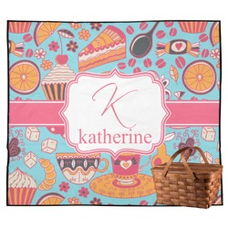 Dessert & Coffee Outdoor Picnic Blanket (Personalized)