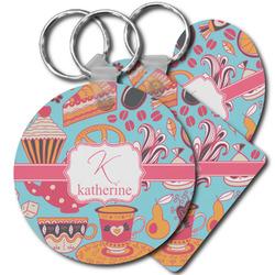 Dessert & Coffee Plastic Keychains (Personalized)