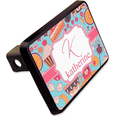 "Dessert & Coffee Rectangular Trailer Hitch Cover - 2"" (Personalized)"