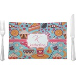 Dessert & Coffee Glass Rectangular Lunch / Dinner Plate - Single or Set (Personalized)