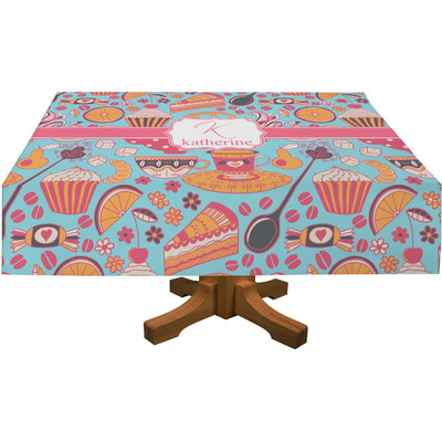 "Dessert & Coffee Rectangular Tablecloth - 88""x156"" (Personalized)"