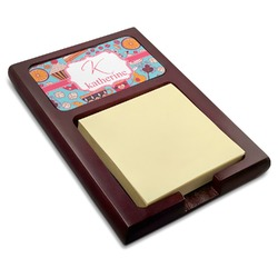 Dessert & Coffee Red Mahogany Sticky Note Holder (Personalized)
