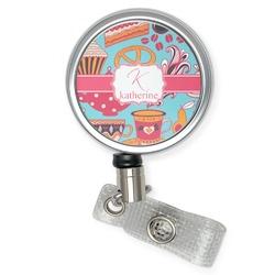 Dessert & Coffee Retractable Badge Reel (Personalized)