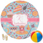 Dessert & Coffee Round Beach Towel (Personalized)