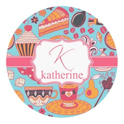 Dessert & Coffee Round Decal - Small (Personalized)