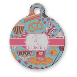 Dessert & Coffee Round Pet Tag (Personalized)