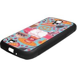 Dessert & Coffee Rubber Samsung Galaxy 4 Phone Case (Personalized)