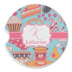 Dessert & Coffee Sandstone Car Coasters (Personalized)