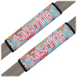 Dessert & Coffee Seat Belt Covers (Set of 2) (Personalized)