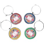 Dessert & Coffee Wine Charms (Set of 4) (Personalized)