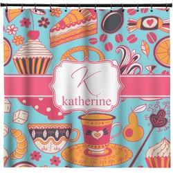 Dessert & Coffee Shower Curtain (Personalized)