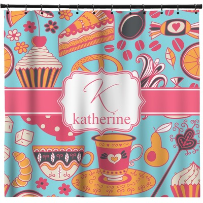 Dessert & Coffee Shower Curtain (Personalized)